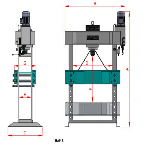 Workshop Presses Standard Motorized